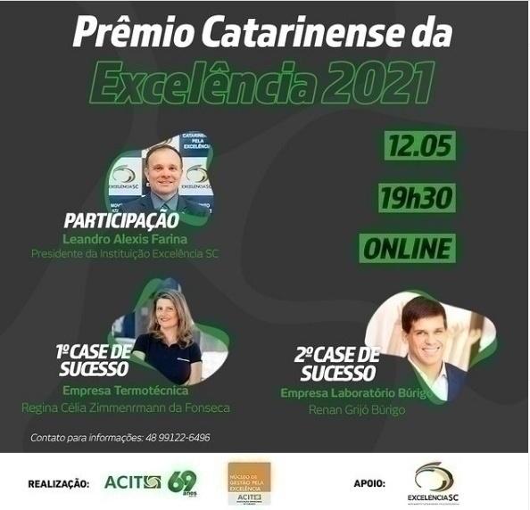 Prêmio Catarinense da Excelência será lançado dia 12 na região