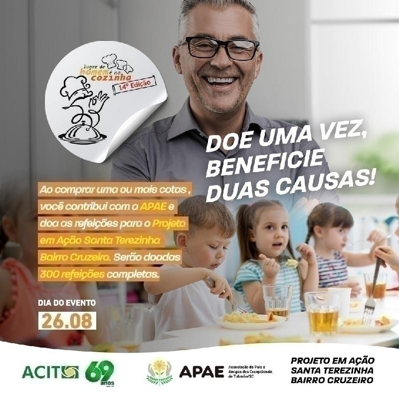 ACIT participará de projeto da APAE e doará refeições